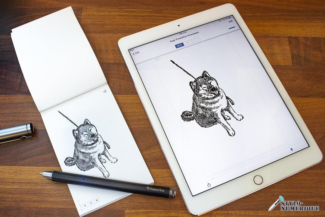 stylo numérique avec papier connecté