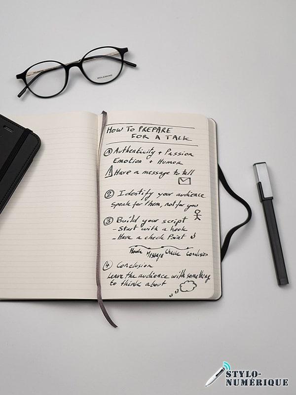 stylo numérique écriture carnet