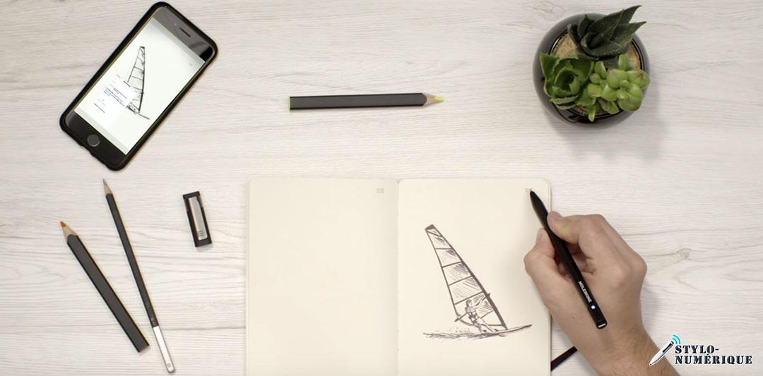 stylo numerique dessin application téléphone