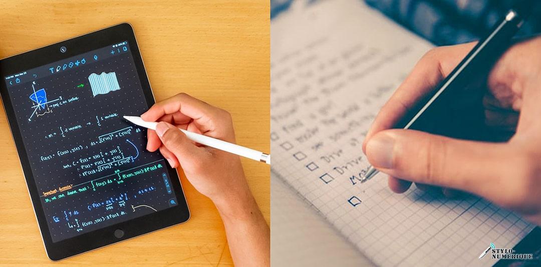 tablette et stylo numérique
