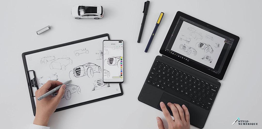 differences entre surligneur et stylo numérique